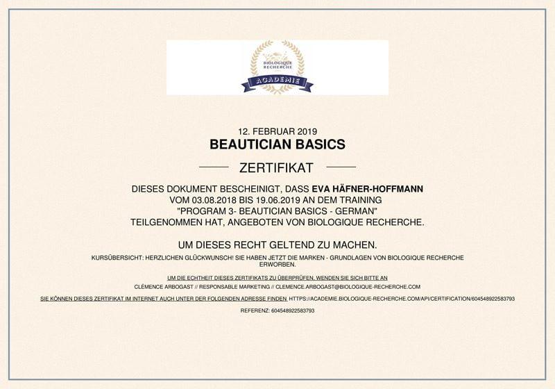 Zertifikat - evas concept