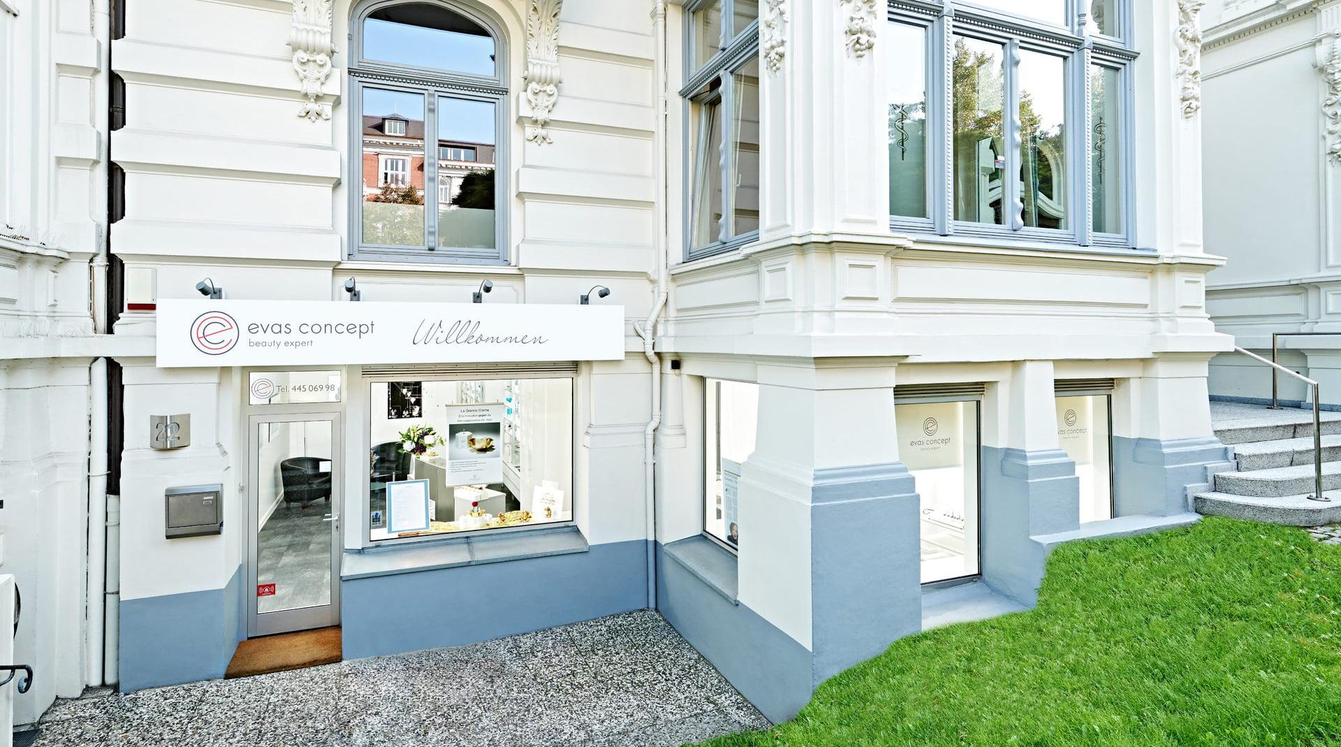 Außenfassade von evas concept in Hamburg